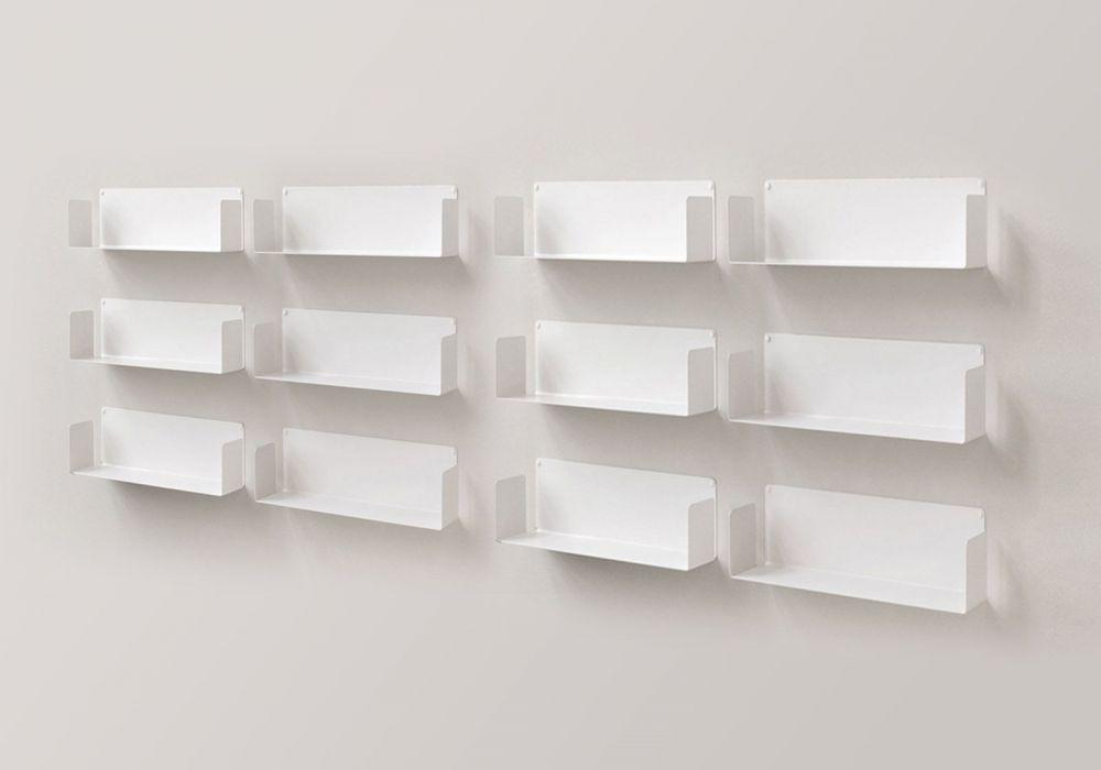 """Floating shelves  """"U"""" - 60 cm - Set of 12"""