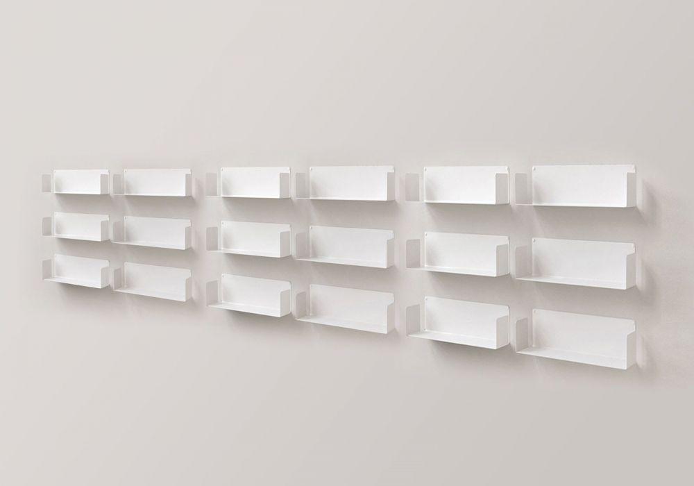 "Mensola modulare ""U"" - 60 cm - Set di 12 - Acciao"
