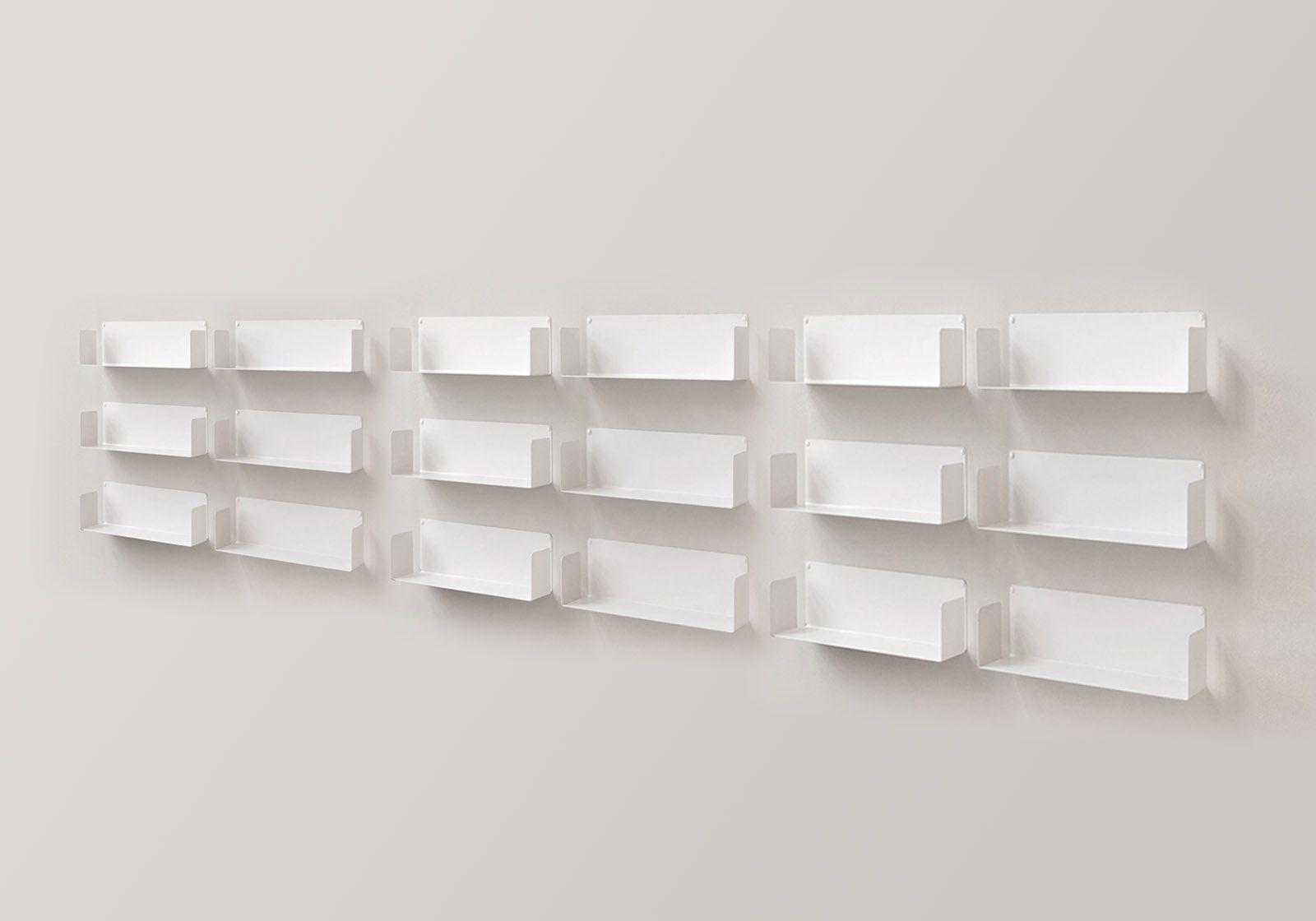 "Mensola modulare ""U"" - 60 cm - Set di 12 - Acciaio"