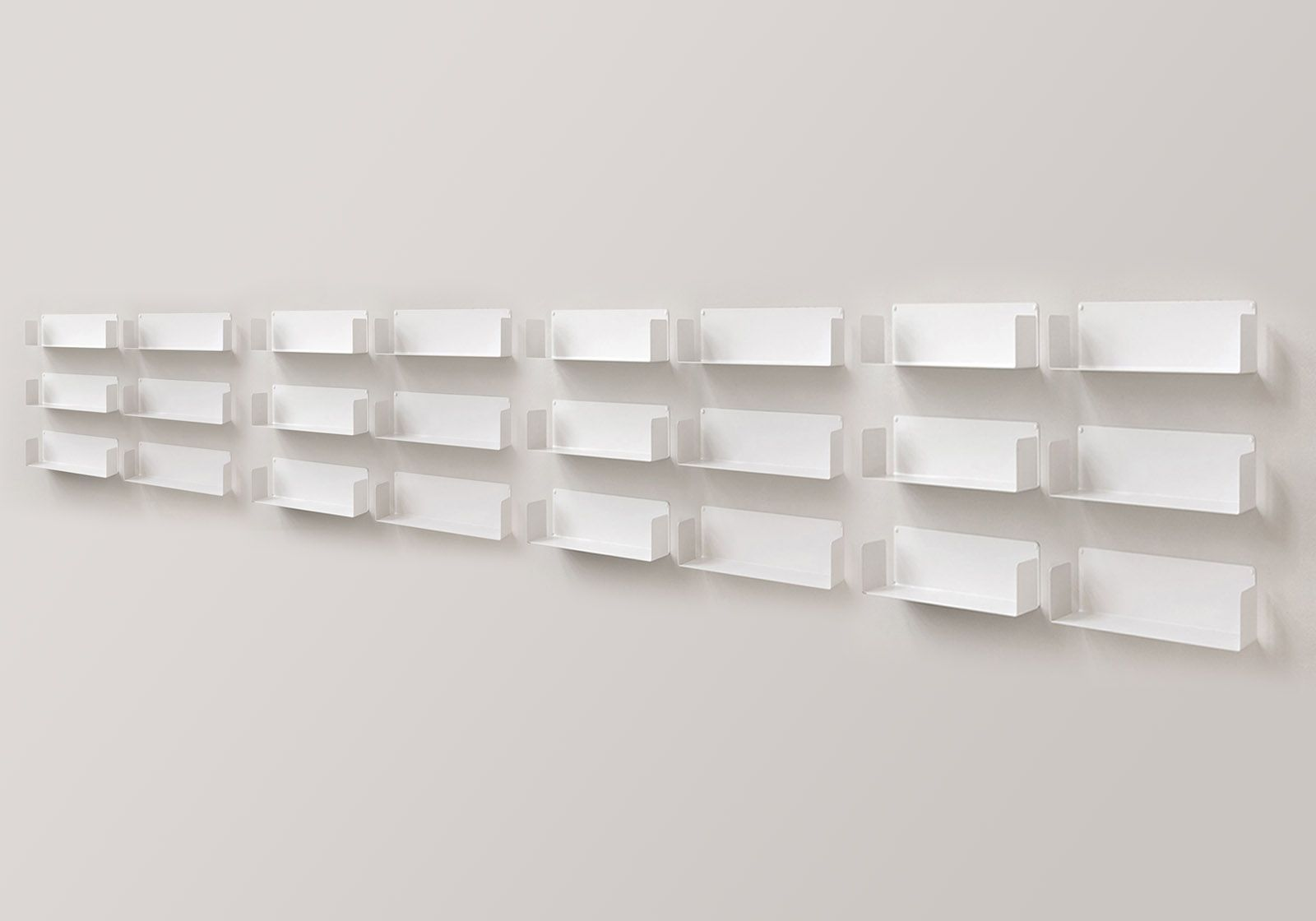 "Mensola modulare ""U"" - 60 cm - Set di 18 - Acciaio"