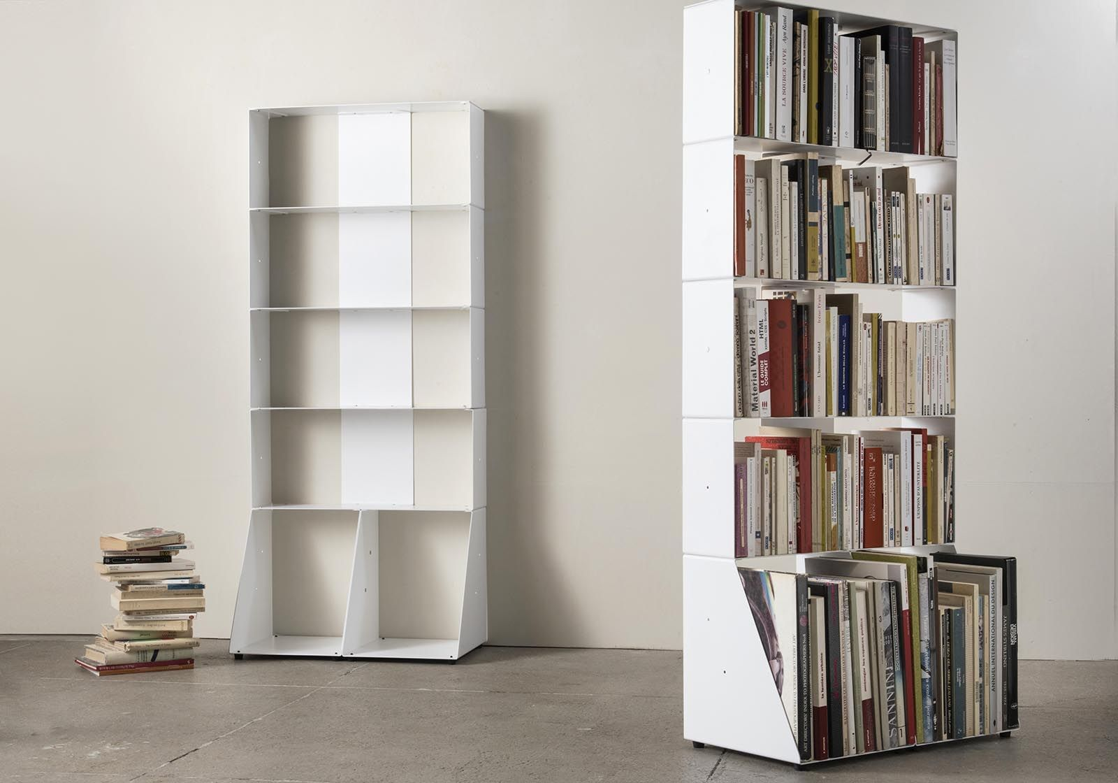 meuble biblioth que 60 cm m tal blanc 5 niveaux. Black Bedroom Furniture Sets. Home Design Ideas