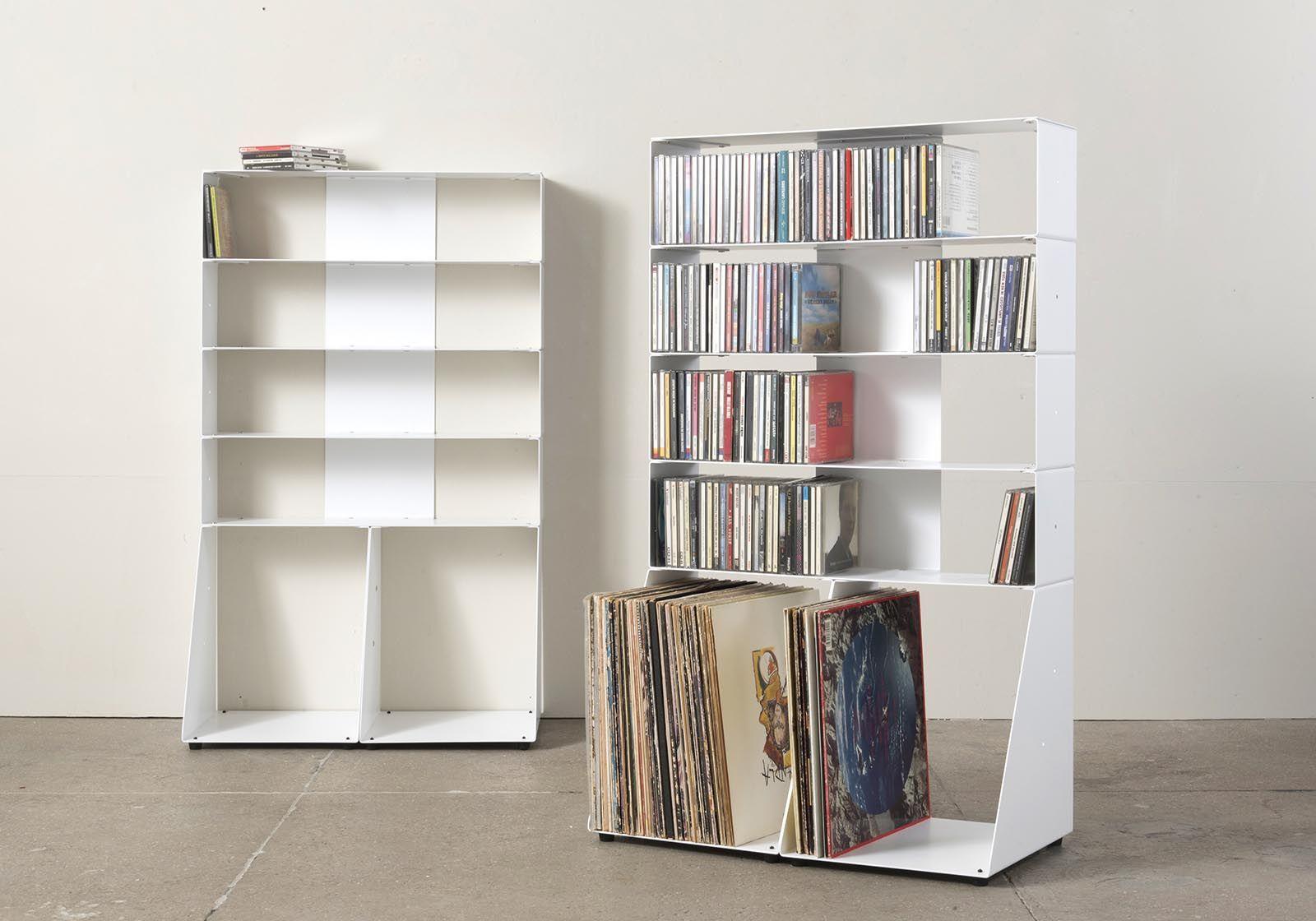 cd vinyl storage w60 h95 d32 cm 5 shelves. Black Bedroom Furniture Sets. Home Design Ideas