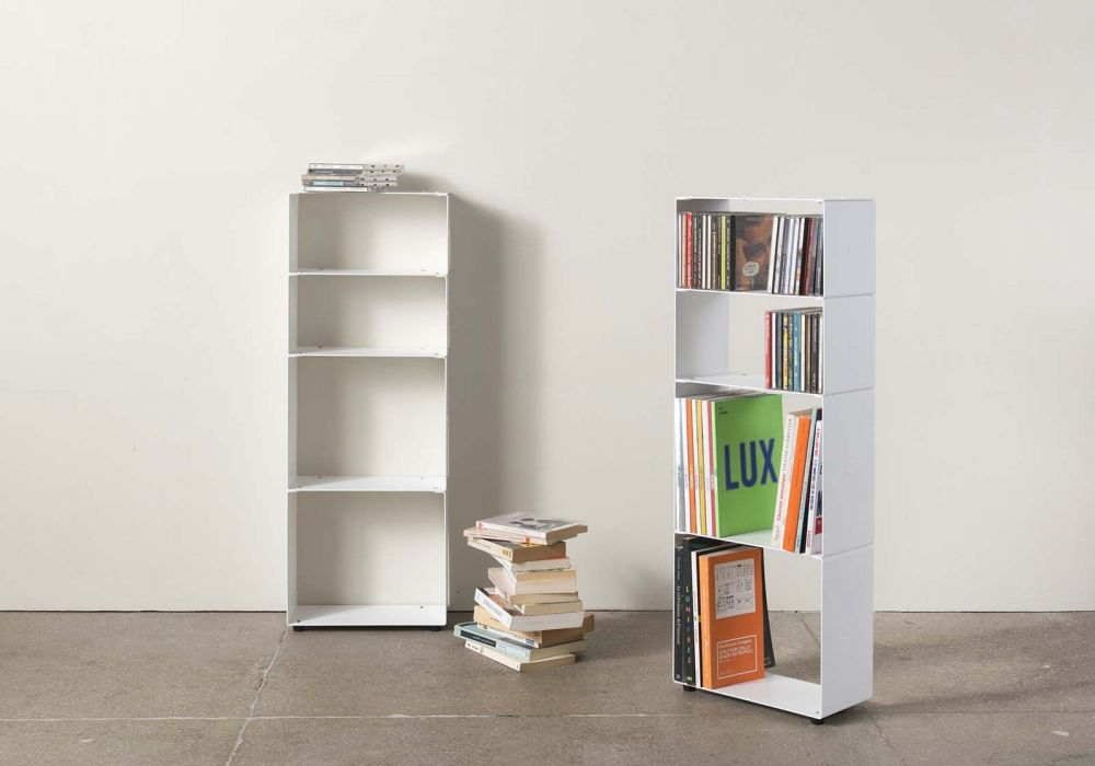 biblioth que design 30 cm livre et cd 4 niveaux. Black Bedroom Furniture Sets. Home Design Ideas