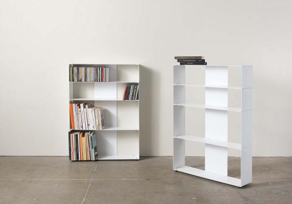 Bibliothèque design 60 cm (livre, et cd) - 4 niveaux