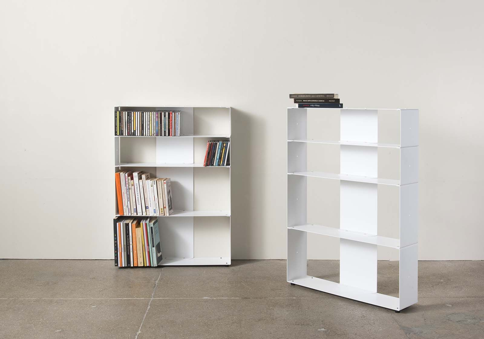Libreria Profondità 15 Cm libreria di design per libri & cds l60 h80 p15 cm - 4 livelli