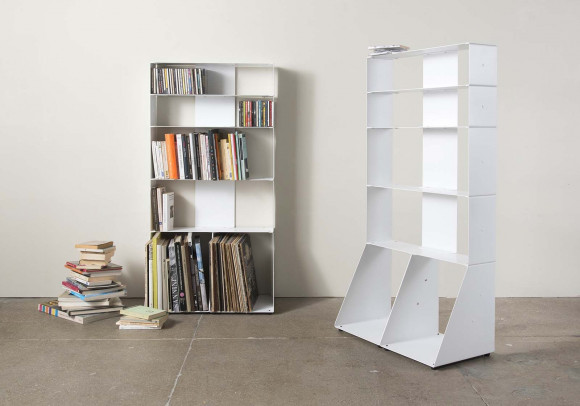 Bücherschrank (Bücher, Cds, Schallplattens) 5 ablagen B60 H115 T15 cm