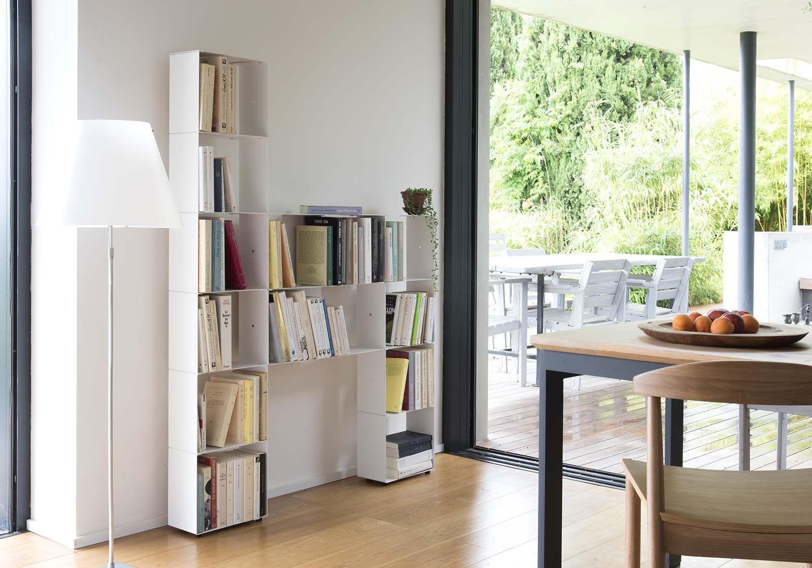 biblioth que design 60 cm livre et cd 4 niveaux. Black Bedroom Furniture Sets. Home Design Ideas