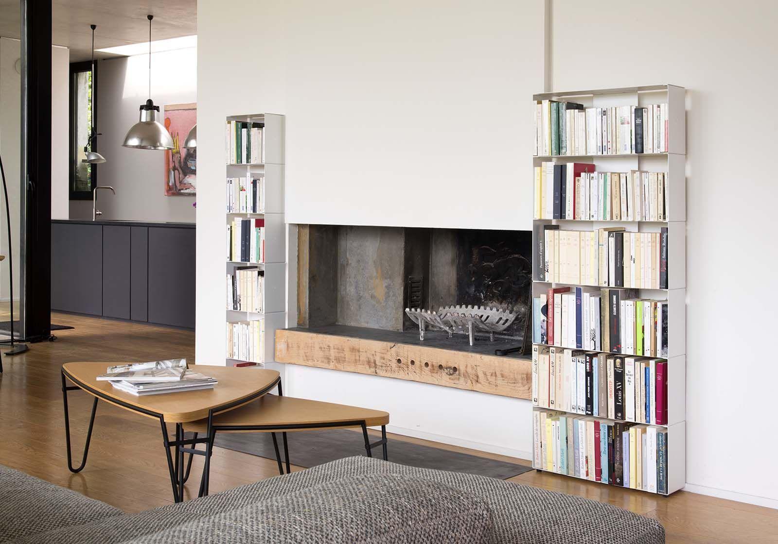 Narrow Bookcase W30 H185 D32 Cm 7 Shelves