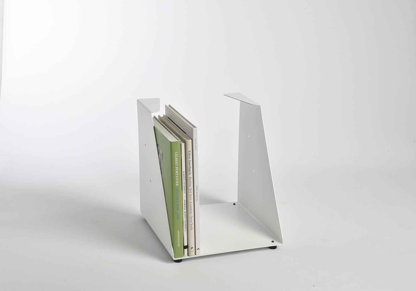 meuble biblioth que 30 cm m tal blanc 5 niveaux. Black Bedroom Furniture Sets. Home Design Ideas