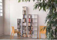 Bibliothèque livre 2 niveaux 60x50x15 cm