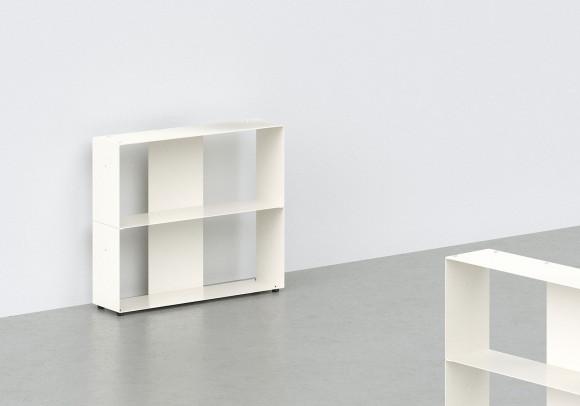 Librerias muebles 60 cm - metal blanco - 2 niveles