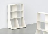 Bücherregal weiß 3 ablagen B60 H85 T15 cm