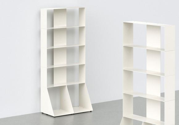 Bücherschrank weiß 5 ablagen B60 H135 T15 cm