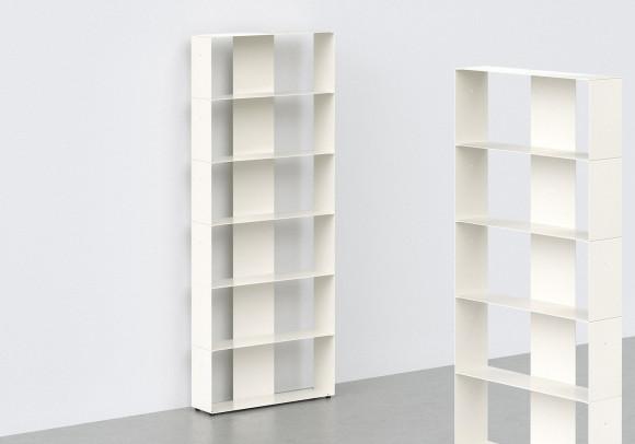 Librerias muebles 60 cm - metal blanco - 6 niveles