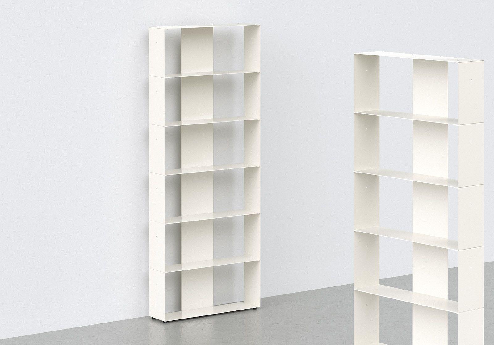 Libreria Profondità 15 Cm librerie moderne 60 cm - metallo bianco - 6 livelli
