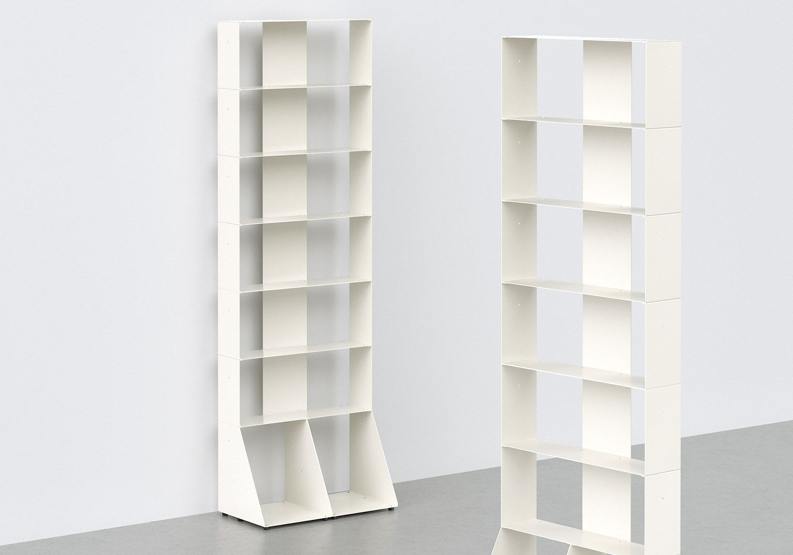 biblioth que colonne 60 cm m tal blanc 7 niveaux. Black Bedroom Furniture Sets. Home Design Ideas
