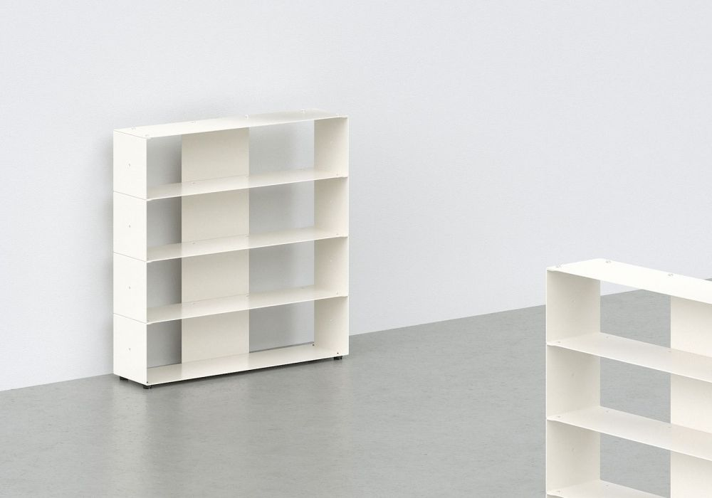 Cd storage W60 H60 D15 cm - 4 shelves