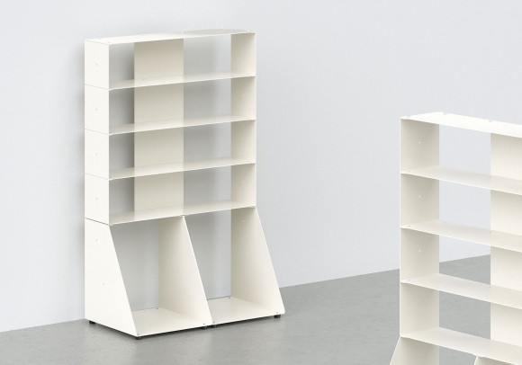 Cd & vinyl storage W60 H95 D32 cm - 5 shelves
