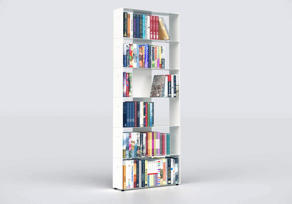 Estanterias librerias 60 cm - metal blanco - 6 niveles