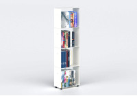White Bookcase W30 H100 D15 cm - 4 shelves