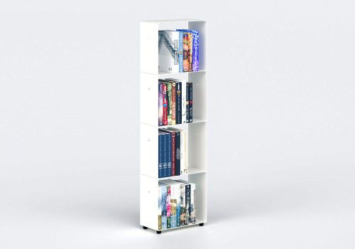 Narrow Bookcase W30 H100 D15 cm - 4 shelves