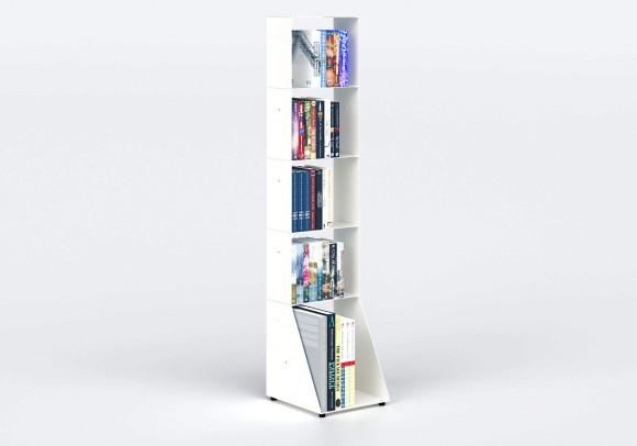 Libreria design 30 cm - metallo bianco - 5 livelli