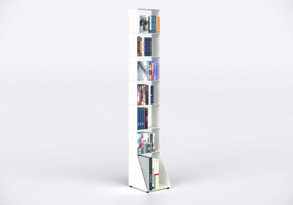 Estanterias librerias 30 cm - metal blanco - 7 niveles