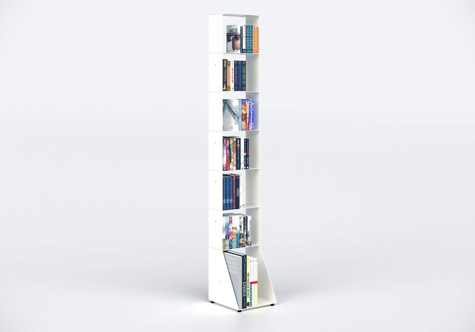 Narrow Bookcase W30 H185 D32 cm - 7 shelves