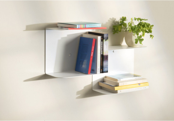 White wall shelves - L60 cm