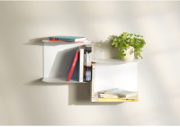 White wall shelves - L23.6 inch