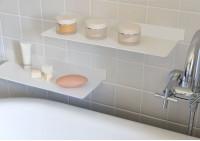 Mensole per bagno TEEline 45 cm - Set di 2 - Acciao