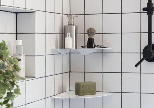 Mensole per bagno TEEgolo 24 cm - Set di 2 - Acciaio