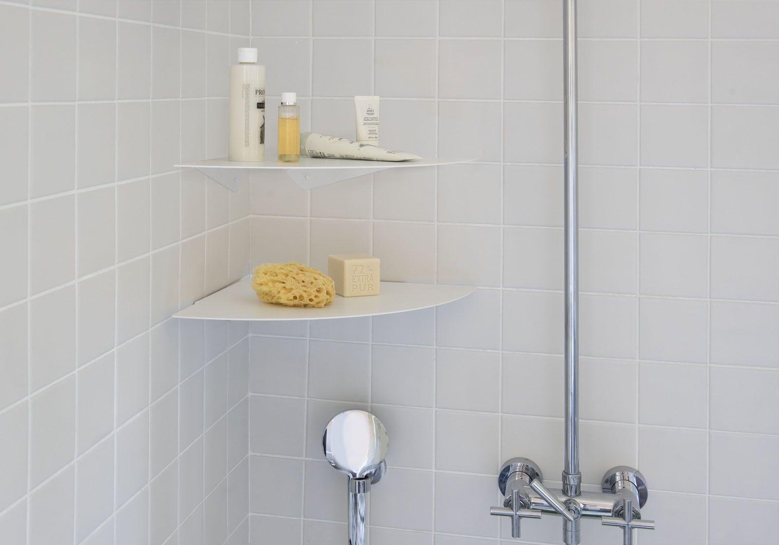 Mensole per bagno TEEgolo 36 cm - Set di 2 - Acciaio