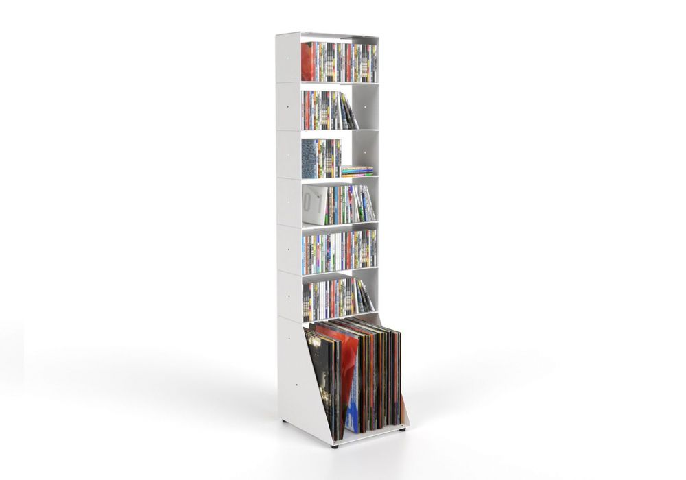 Cd & Schallplattene regal 7 ablagen B30 H125 T15 cm