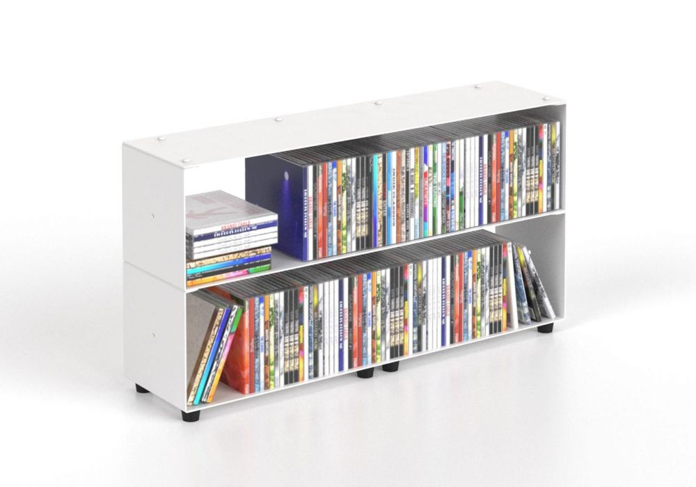 Cd storage W60 H30 D15 cm - 2 shelves