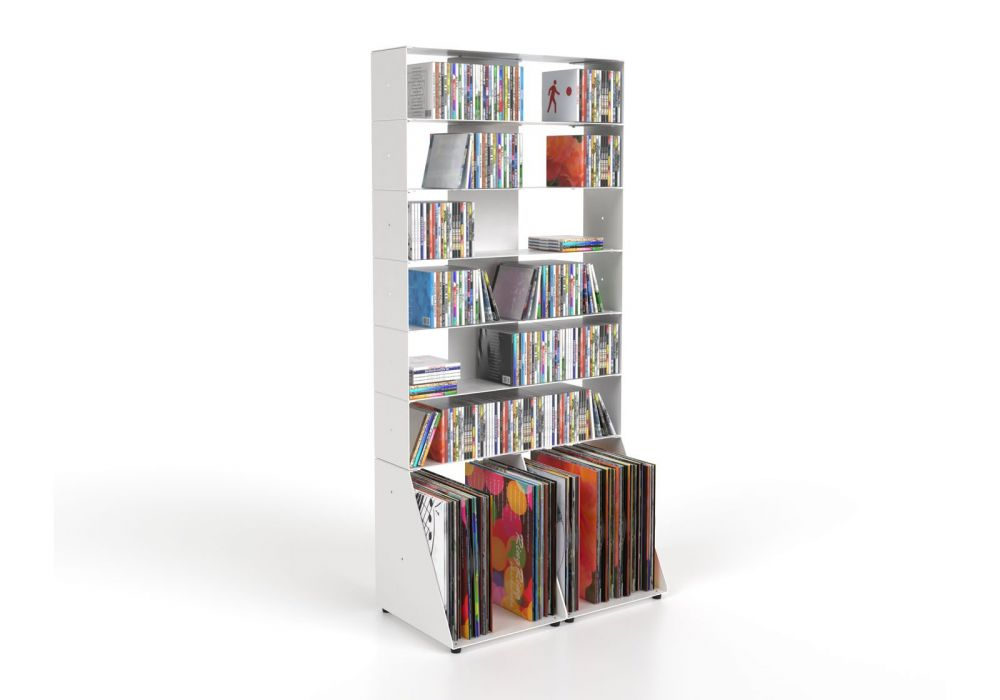 Porta CD & Vinili 7 livelli L60 H125 P32 cm