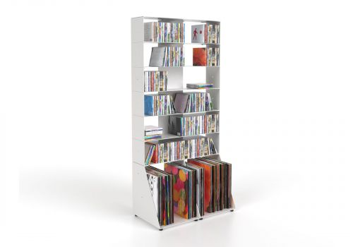 CD & vinyl storage W60 H125 D32 cm - 7 shelves