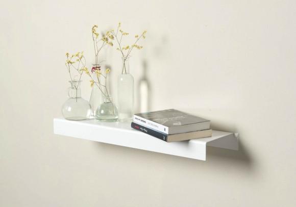 Scaffale a parete - bianca in acciaio 60 cm