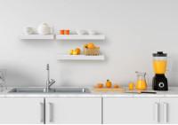 Scaffale a parete - bianca acciaio 45 cm