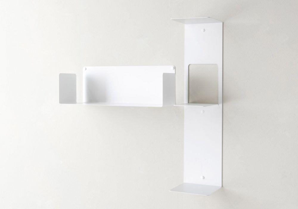 """Mensola modulare """"T"""" asimmetrica SINISTRA - 60x60 cm - Acciao"""