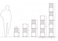Estanterias librerias 60 cm - metal blanco - 2 niveles