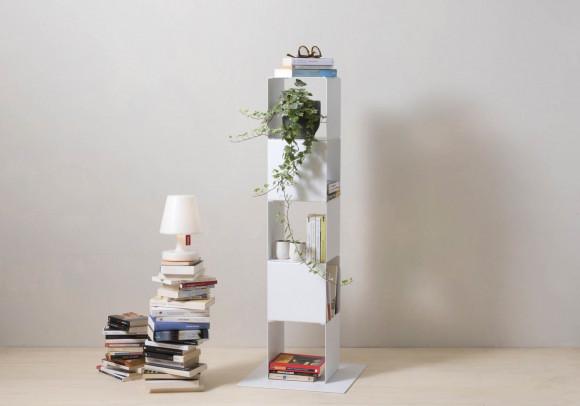 Étagère cube - Meuble colonne en acier - 5 niveaux