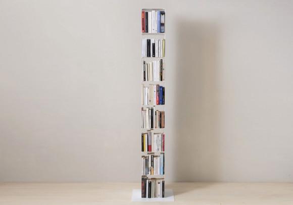 Meuble colonne blanc en acier L24 cm - 8 niveaux