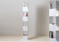 Cube shelf - Steel column storage - 8 shelves