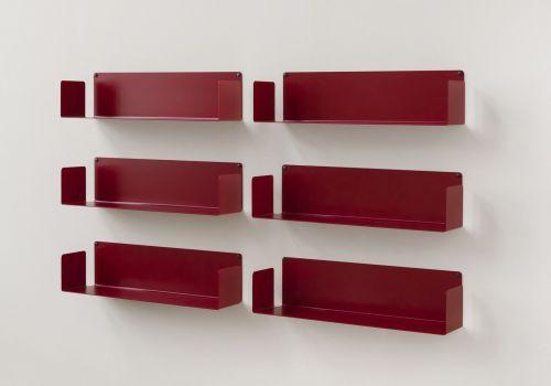 "Mensola modulare ""U"" - 60 cm - Set di 6 - Acciaio"