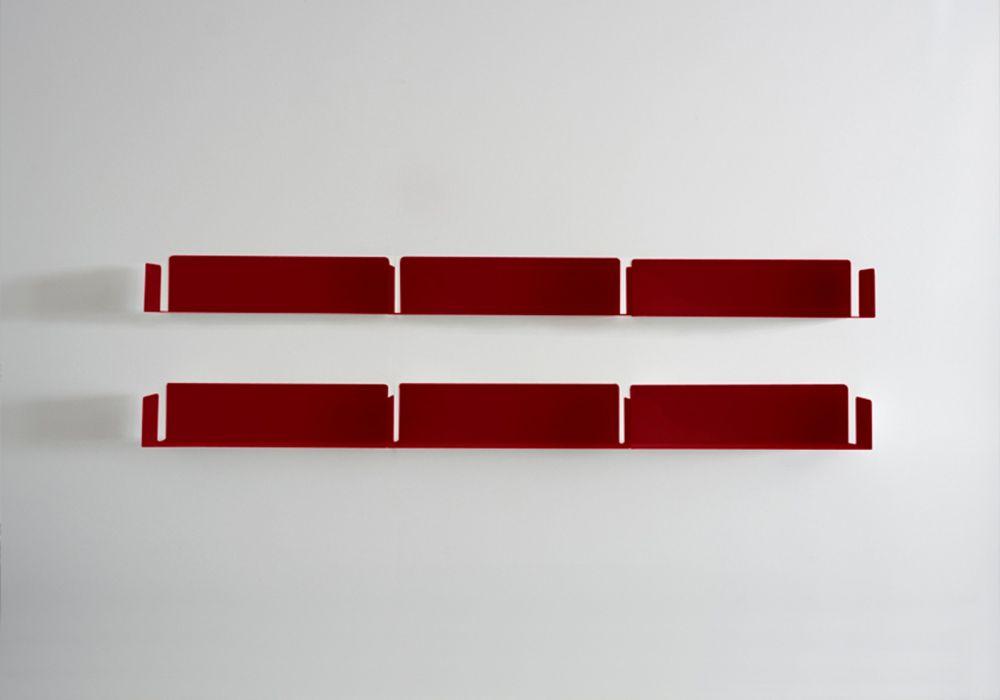 """Bibliothèque design """"LINÉAIRE""""  rouge"""