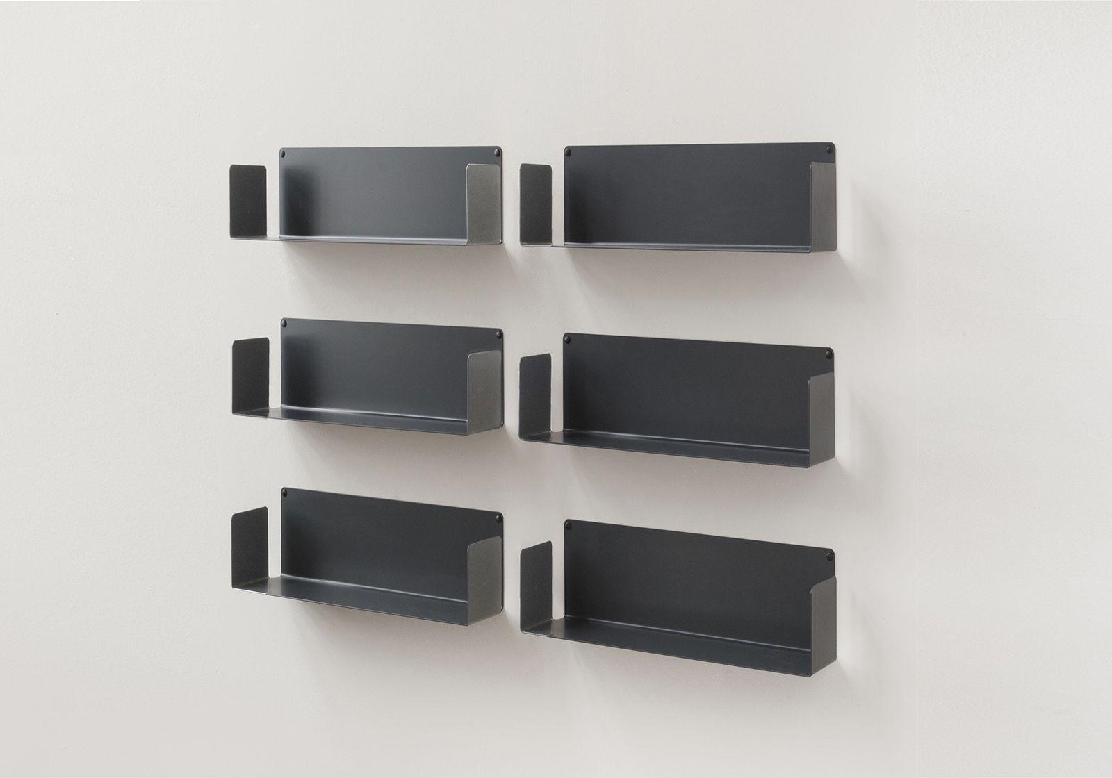 """Bücherregale """"US"""" - Satz von 6 - 45 cm - Stahl"""