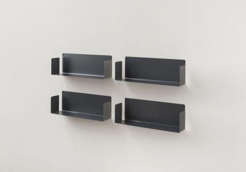 Mensola porta CD - USCD - Set di 4 - 45 cm - Acciaio