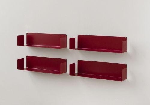 Mensola porta CD - Set di 4 - 60 cm - Acciaio