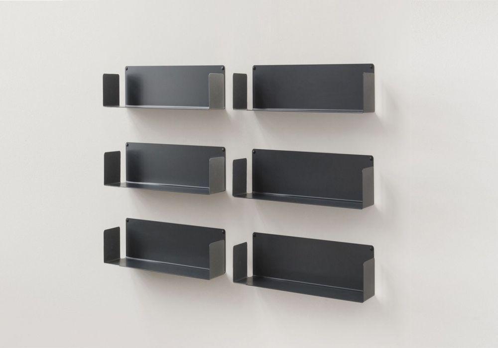 CD-Regalen - Set mit 6 - 45 cm - Stahl